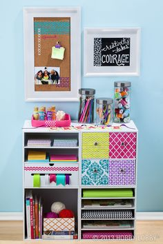 Stencil on trendy designs to take your drawers and shelves from blah to beautiful!