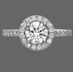 1.50 Ct Round Cut Enhanced Diamond Engagement Ring 18K White Gold D/SI1 Bridal