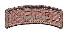 Patch Squad Men's Tactical USA Infidel Tab Patch By Patch Squad (Desert)