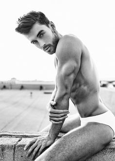 Up on the roof - Wilhelmina male model Dima Gornovskyi by photographer William Callan #dimagornovskyi #williamcallan #underwear