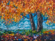 Buy SUNRISE TREE (Palette Knife), Oil painting by Lena  Owens on Artfinder. Discover thousands of other original paintings, prints, sculptures and photography from independent artists.