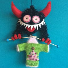 A personal favorite from my Etsy shop https://www.etsy.com/listing/472939024/krampus-ornament-ugly-sweater