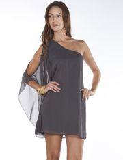 Flowy One Shoulder Dress