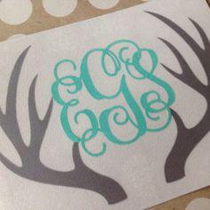 Deer Antler Monogram | Antler Monogram Decal | Browning Decal | Browning Car Decal | Monogrammed