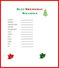 Baby Christmas Scramble Game