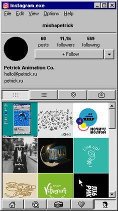 Instagram for Windows 95. Haha!