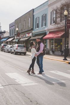 Engagement Images in Historic Downtown Apex, NC. @ImagesbyAmberR #Engagement #Photography