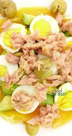 La cocina malagueña-Alsurdelsur: Ensalada de aguacates y naranjas y como pelar un aguacate