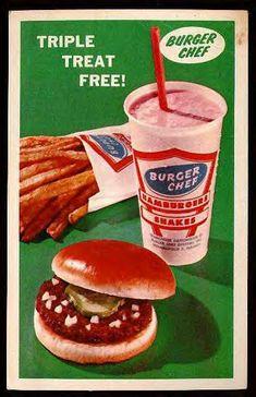 Burger Chef postcard, circa 1960s.
