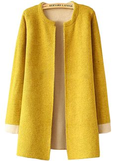 Sghya Women's Winter New Knitting Pullovers Long Loose Sweater CoatPlain Loose Knit Yellow Cardigan – perfect for Honey Lemon DisneyBound from Big Hero Someone buy this for me please I already have a yellow dress! Plain Loose Knit Yellow Cardigan s Yellow Coat, Yellow Cardigan, Knit Cardigan, Yellow Dress, Cardigan Casual, Loose Sweater, Sweater Coats, Sweaters, Nordstrom Coats
