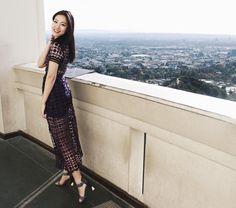 Michelle (@runwayonthego) Crochet midi dress #ootd #outfitinspo #stylegram