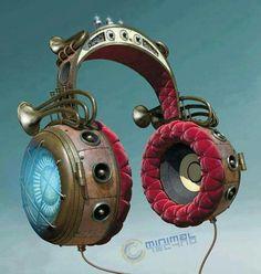 Steampunk headphones.