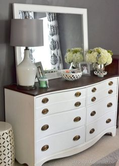 In my room I really want a dresser with a full size mirror on top! I think that it would look really cute:)