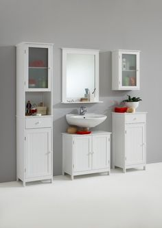 FMD Möbel 905-004 Waschbeckenunterschrank Stockholm 4 (B/H/T) 60.0 x 60.0 x 35.0 cm, weiß: Amazon.de: Küche & Haushalt
