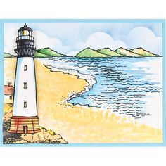 Cling Build A Lighthouse Stamp Set