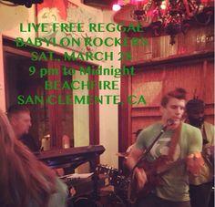 TONIGHT AT BEACHFIRE IN SAN CLEMENTE, CA!!