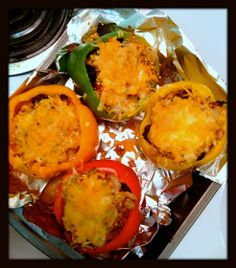 The Sweet Life: Healthy Quinoa & Shrimp Stuffed Peppers