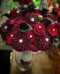 Glendale Florist | Deep Reds and Sparkle Including Black Magic Roses, Dahlias, and Calla Lilies