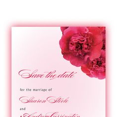 Spring Save the Date Cards with Rose Floral Bouquet by ALookOfLove, $50.00--Wonderful cards!