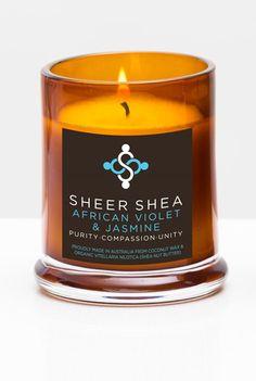 SHEER SHEA CANDLE - AFRICAN VIOLET & JASMINE*