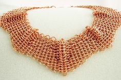 Copper chainmaille necklace from Kaeti Originals on etsy
