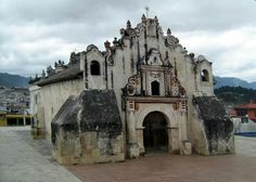 First catholic church built in Central America by 1524, by Spanish conquerers, located in Salcaja, Quetzaltenango, Guatemala.