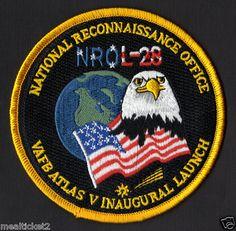 NRO L-28 MISSION - ATLAS V - INAUGURAL LAUNCH - VAFB USAF SATELLITE PATCH
