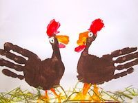 Handprint Turkey - Things to Make and Do, Crafts and Activities for Kids - The Crafty Crow
