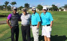 Santana, Miles, Mateo, Báez y González sobresalen 1ra jornada intercambio de golf RD y Puerto Rico