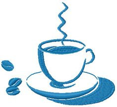 Hot coffee free embroidery design - Kitchen and Cooking embroidery designs - Machine embroidery community