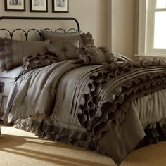Ruffled Comforter Set