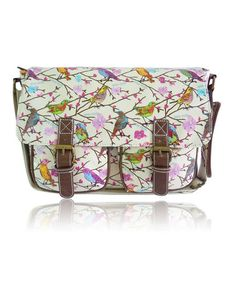 Take a look at this Anna Smith: Cream Little Birds Messenger Bag by Anna Smith on #zulily today!