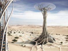 'Sand Babel' es un grupo de edificios de la ciencia y el turismo en el desierto. Diseño inspirado en las estructuras de la tormenta del desierto. Autores: Qiu canción, Kang Pengfei, Bai Ying, Ren Nuoya, Guo Shen (China).