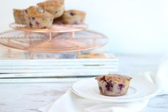 Berry Protein Muffins from The Fit Foodie. Simple, low carb, high protein muffins with delicious summer fruit for a post workout snack.
