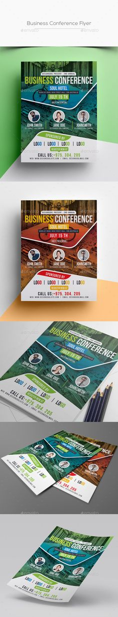 #Business Conference #Flyer - Corporate Flyers Download here: https://graphicriver.net/item/business-conference-flyer/20353106?ref=alena994