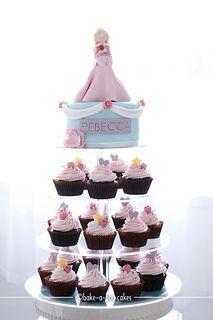 Princess Sleeping Beauty cupcake towers