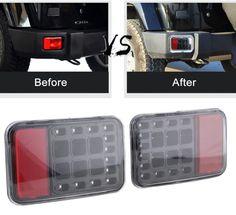 """07-16 Jeep Wrangler JK 7/"""" RED LED SMD Halo Headlights plus Fog lights set"""