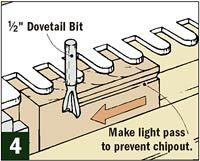 To cut dovetail joints with a router and template requires a little planning ahead. For example, the drawer for the chest is exactly 4