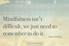 Mindfulness isn't difficult, we just need to remember to do it - Sharon Salzberg