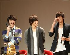 Best friends in real life  - Lee Min Ho and Jung Il Woo have been friends since middle school, but they really grew close when they were in a serious car accident while on vacation in 2006. Jung Il Woo also became close with Kim Bum while filming Unstoppable High Kick, and he has said Kim Bum is like a brother to him. The three don't see each other often because of their chaotic schedules, but they often invite each other to events.