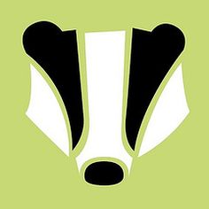 Minimalist Badger Harry Potter Stencils, Hogwarts, Badger Tattoo, Hufflepuff Pride, Hufflepuff Bedroom, Badger Illustration, Honey Badger, Baby Badger, Hp Products