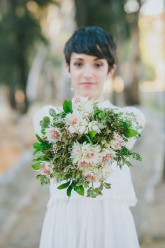 How amazing is this whimsical bouquet?!   Intimate South African Wedding