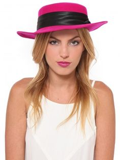 Transition your vintage hat obsession into the summer with a bright shade of pink!