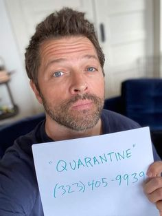 """""""Text me """"QUARANTINE"""" if you want a project we can all do to show support for healthcare workers: How To Treat Anxiety, Cognitive Behavioral Therapy, Supernatural Cast, Angst, Misha Collins, Text Me, Destiel, Celebrity News, Real Life"""