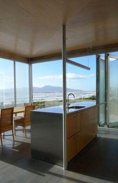 Kapiti Beach House, Kapiti Island, New Zealand by Geoff Fletcher Architects