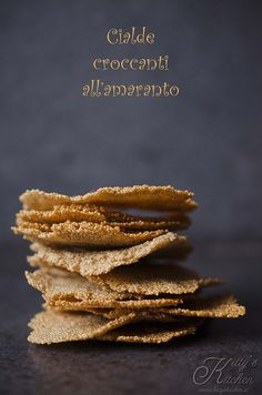 cialdine all'amaranto  by Elisakitty's Kitchen - Amaranth crackers one ingredient