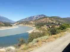 Glacier blue Thompson river joins mighty Fraser River at Lytton in British Columbia! #Canada @RMountaineer