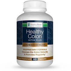 Healthy Colon Detox Plus -  Clinical Strength Cleanse & Constipation Relief Formula - 60 Veg Caps
