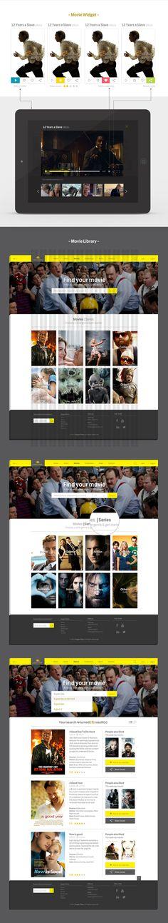 Eagle Films   Responsive Webdesign by Carine Teyrouz, via Behance