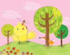 Chicken Licken @ Gina Maldonado 2015 gigilikestodraw.blogspot.com #NurseryRhymes #Cute